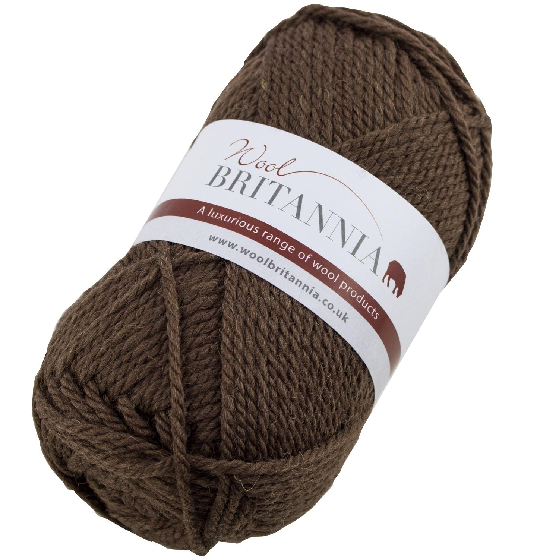 Chunky Wool on Ball - Mid Brown